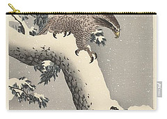 Eagle On Snowy Pine Carry-all Pouch