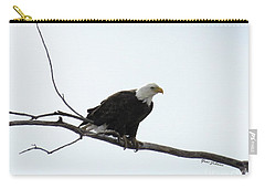 Eagle On The Tree Branch Carry-all Pouch by Yumi Johnson