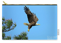 Carry-all Pouch featuring the photograph Eagle Series 1 2017 by Deborah Benoit