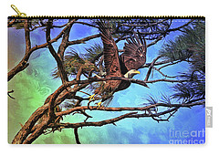 Carry-all Pouch featuring the painting Eagle Series 2 by Deborah Benoit