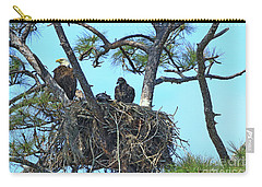 Carry-all Pouch featuring the photograph Eagle Series Baby by Deborah Benoit