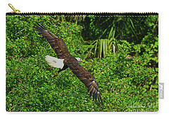 Carry-all Pouch featuring the photograph Eagle Series Flight by Deborah Benoit