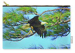 Carry-all Pouch featuring the painting Eagle Series Food by Deborah Benoit