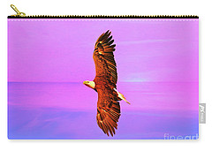 Carry-all Pouch featuring the painting Eagle Series Painterly by Deborah Benoit