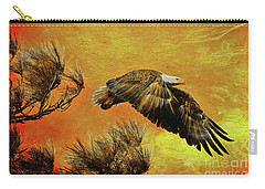 Carry-all Pouch featuring the painting Eagle Series Strength by Deborah Benoit