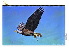 Carry-all Pouch featuring the photograph Eagle Series Success by Deborah Benoit