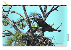 Carry-all Pouch featuring the photograph Eagle Series The Nest by Deborah Benoit