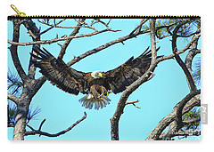 Carry-all Pouch featuring the photograph Eagle Series Wings by Deborah Benoit