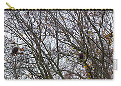 Carry-all Pouch featuring the photograph Eagle Staring Competition by Jeff at JSJ Photography