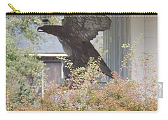 Eagle Statue Carry-all Pouch by Catherine Gagne