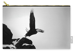 Eagle Takeoff At Adak, Alaska Carry-all Pouch by John A Rodriguez