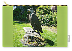 Carry-all Pouch featuring the photograph Eagle Totem by 'REA' Gallery