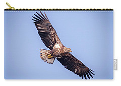 Carry-all Pouch featuring the photograph Eagle Watch 2018 - Third Year Bald Eagle  by Ricky L Jones