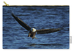 Carry-all Pouch featuring the photograph Eagle With Talons Up by Coby Cooper