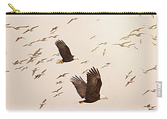 Eagles And Flock Of Seagulls Carry-all Pouch by Peggy Collins