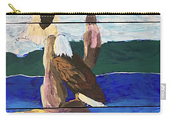 Carry-all Pouch featuring the painting Eagles by Donald J Ryker III