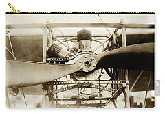 Carry-all Pouch featuring the photograph Early Airplane Propeller Engine by Suzanne Powers