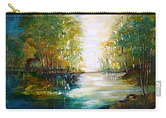 Early Autumn Lake Carry-all Pouch