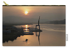 Carry-all Pouch featuring the photograph Early Hour On The River by Lucinda Walter