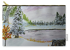 Carry-all Pouch featuring the painting Early Ice  160705 by Jack G Brauer