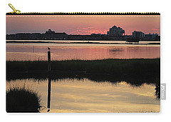Early Light Of Day On The Bay Carry-all Pouch by Robert Banach