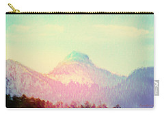 Carry-all Pouch featuring the photograph Early Light On My Mountain Muse by Anastasia Savage Ealy