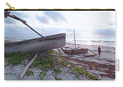 early morning African fisherman and wooden dhows Carry-all Pouch