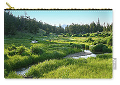 Carry-all Pouch featuring the photograph Early Morning Along The Stream by Marie Leslie