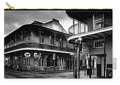 Early Morning At Cornet In Black And White Carry-all Pouch