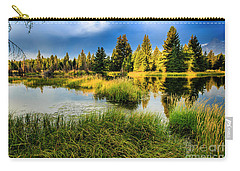 Early Morning At Jackson Hole Carry-all Pouch