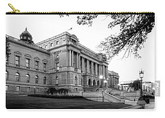 Early Morning At The Library Of Congress In Black And White Carry-all Pouch