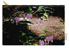 Early Morning Bleeding Hearts - Botanical Carry-all Pouch