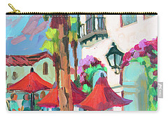 Carry-all Pouch featuring the painting Early Morning Coffee In Old Town La Quinta 2 by Diane McClary