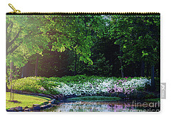 Early Morning Light At The Azalea Pond Carry-all Pouch by Tamyra Ayles