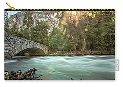 Early Morning On The Merced River Carry-all Pouch by Ryan Weddle