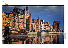 Early Morning On The Motlawa River In Gdansk Poland Carry-all Pouch by Carol Japp