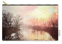 Carry-all Pouch featuring the photograph Early Morning On The River by Debra and Dave Vanderlaan