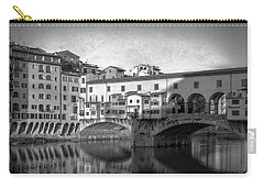 Carry-all Pouch featuring the photograph Early Morning Ponte Vecchio Florence Italy by Joan Carroll