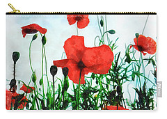 Early Morning Poppy Moment Carry-all Pouch