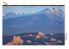 Early Morning Sand Dunes And Snow Covered Peaks Carry-all Pouch by James BO Insogna
