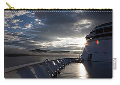 Carry-all Pouch featuring the photograph Early Morning Travel To Alaska by Yvette Van Teeffelen