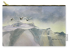 Carry-all Pouch featuring the painting Early Risers by Kris Parins