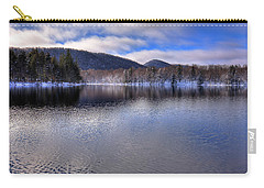 Early Snow On West Lake Carry-all Pouch by David Patterson