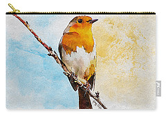 Carry-all Pouch featuring the painting Early Spring by Greg Collins