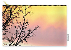 Carry-all Pouch featuring the photograph Early Spring Sunset by Will Borden