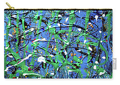 Carry-all Pouch featuring the painting Early Winter by Pam Roth O'Mara