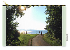Carry-all Pouch featuring the photograph Earth Clock Burlington Vt by Felipe Adan Lerma