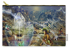 Carry-all Pouch featuring the digital art Earth Energy by Shadowlea Is
