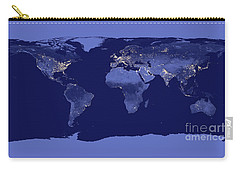 Carry-all Pouch featuring the photograph Earth From Space by Delphimages Photo Creations