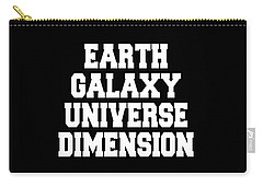 Carry-all Pouch featuring the digital art Earth Galaxy Universe Dimension by Ai P Nilson